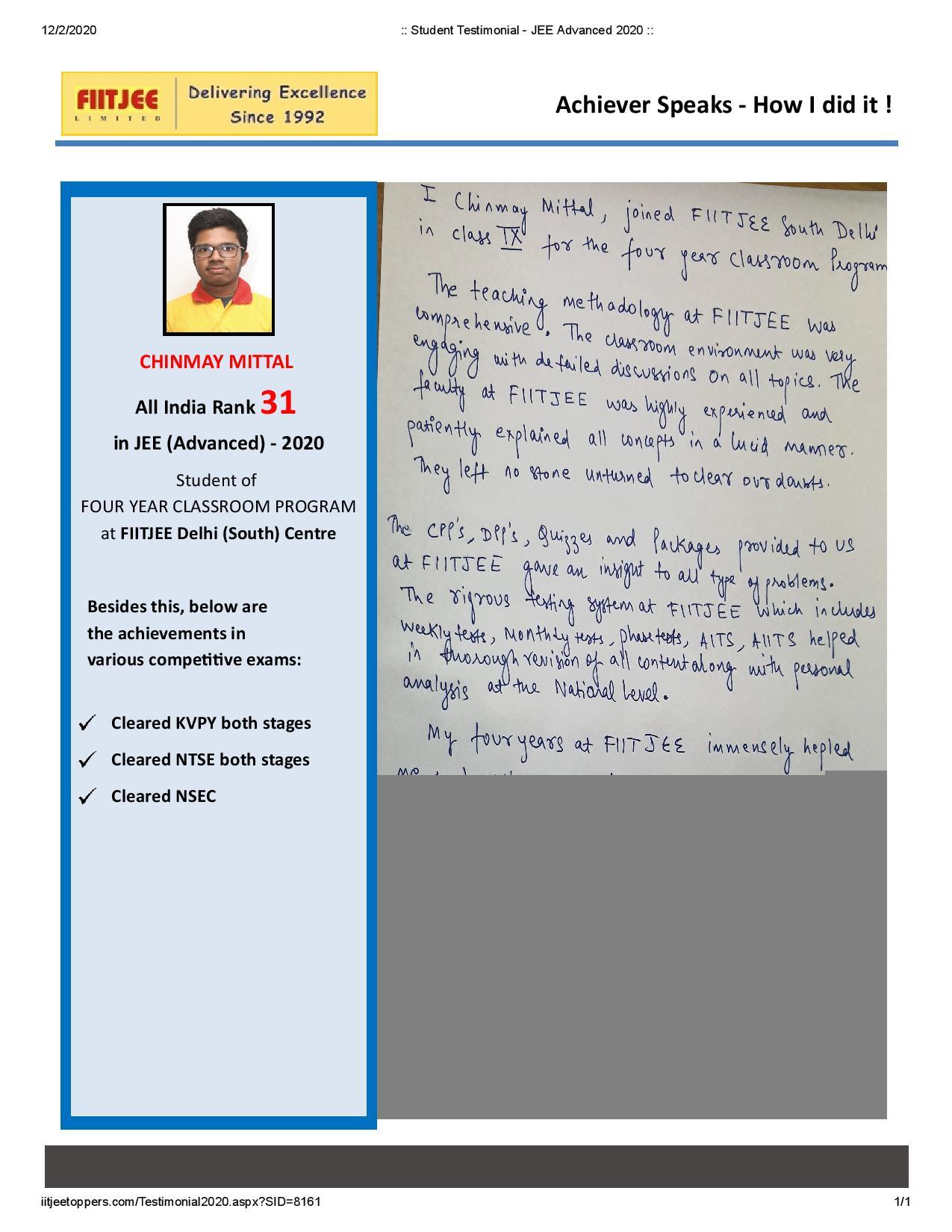 Chinmay Mittal