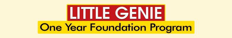 LITTLE GENIE ONE YEAR FOUNDATION PROGRAM